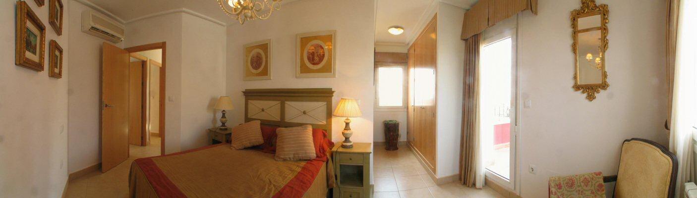 Ferienhaus golf spanien murcia schlafzimmer - Panoramabild schlafzimmer ...